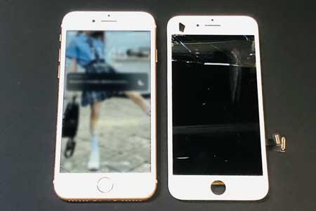 iPhone8の画面修理はガラス我から液晶漏れまで全て修理できます!