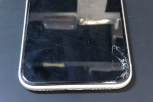 iPhoneXRを落としてガラスがひび割れした、タッチ操作できない!