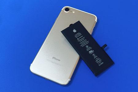 iPhone7のバッテリー交換は最短30分でお渡しのアイスマ甲府店へ